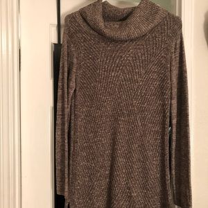 NWOT Comfy Tunic Length Cowl Neck Sweater